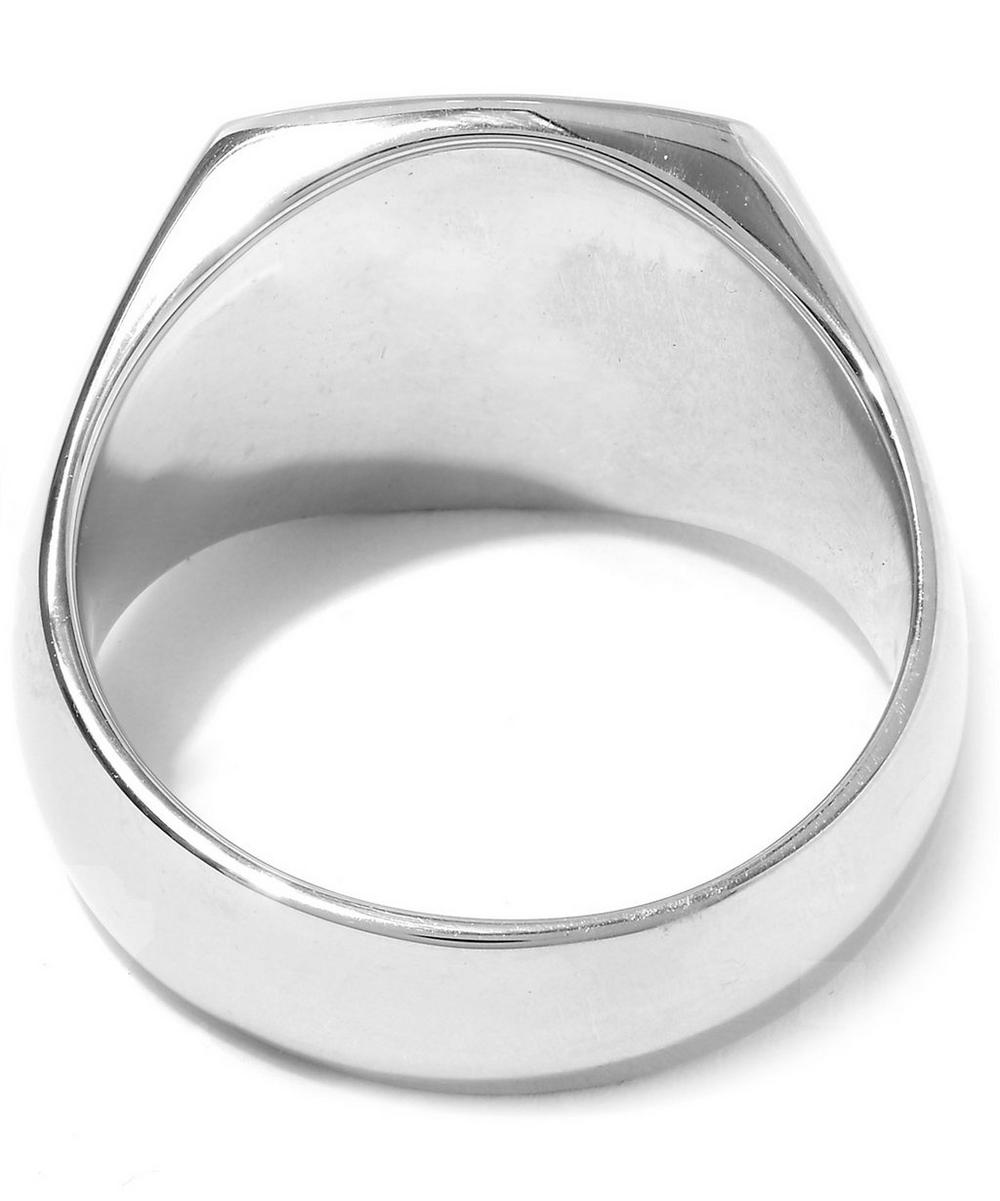 Silver Black Onyx Cushion Ring