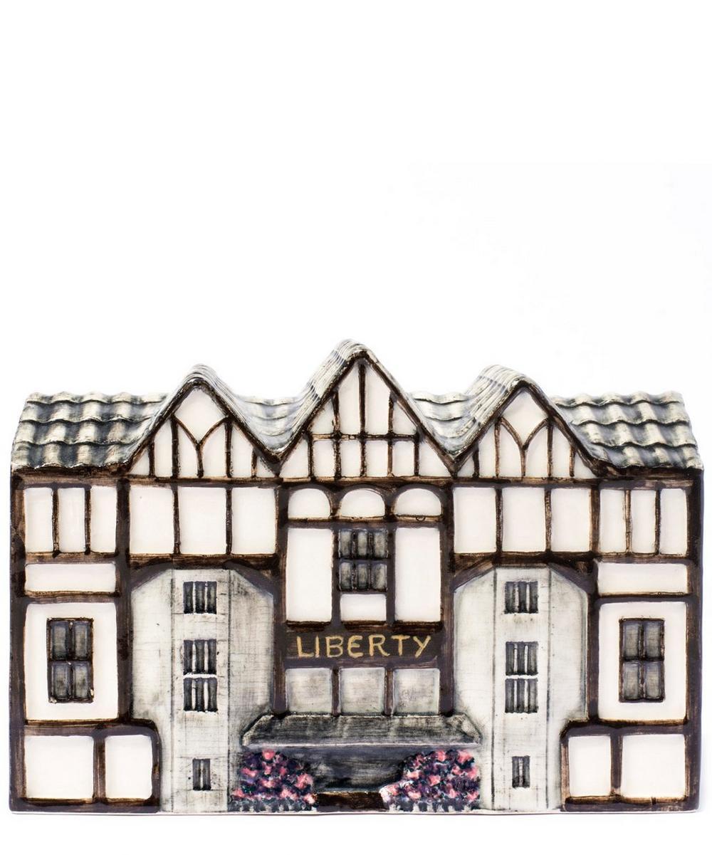 Liberty Building Ceramic Money Box