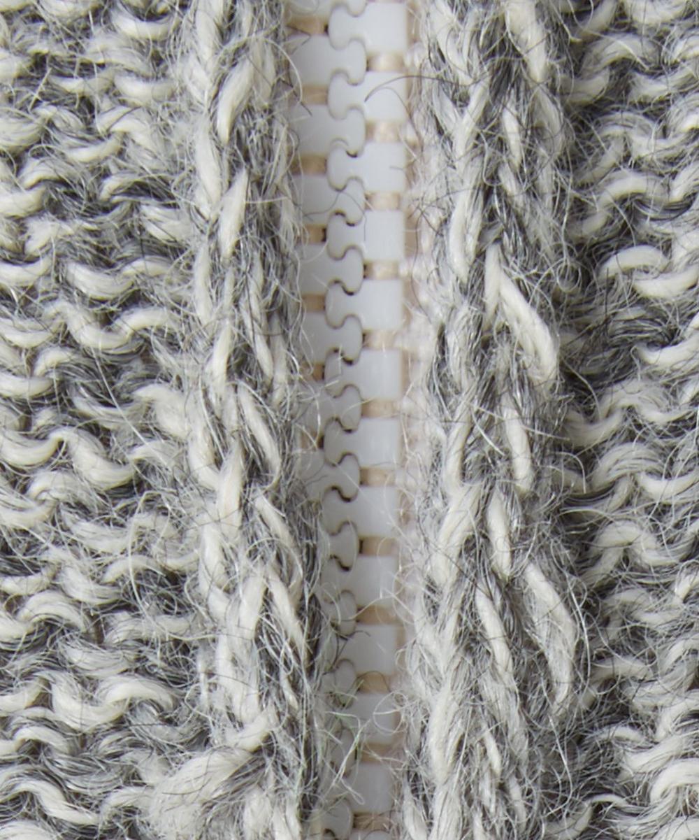 Reversible Rabbit Alpaca Wool Hoodie