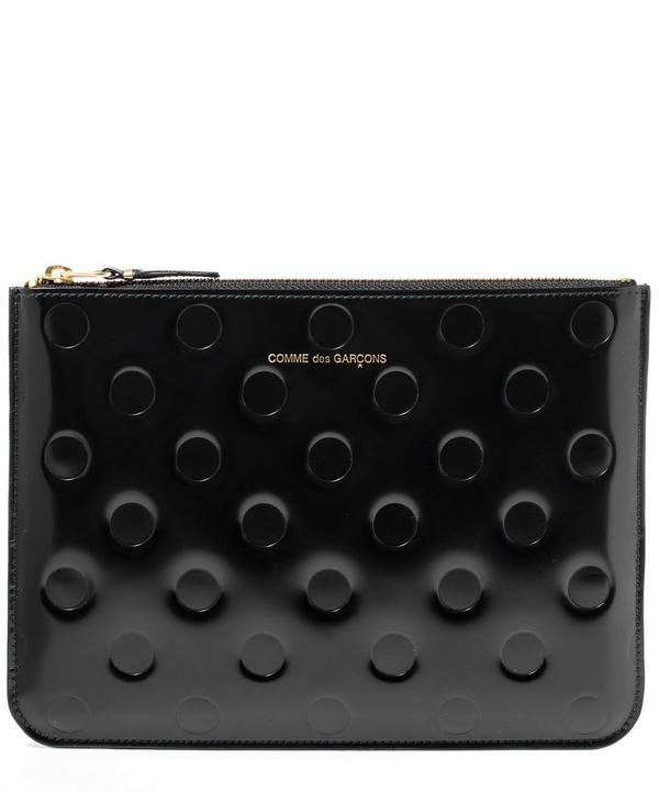 Embossed Polka Large Pouch
