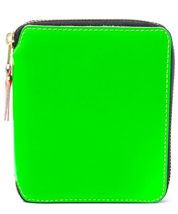 Fluorescent Square Zip Wallet