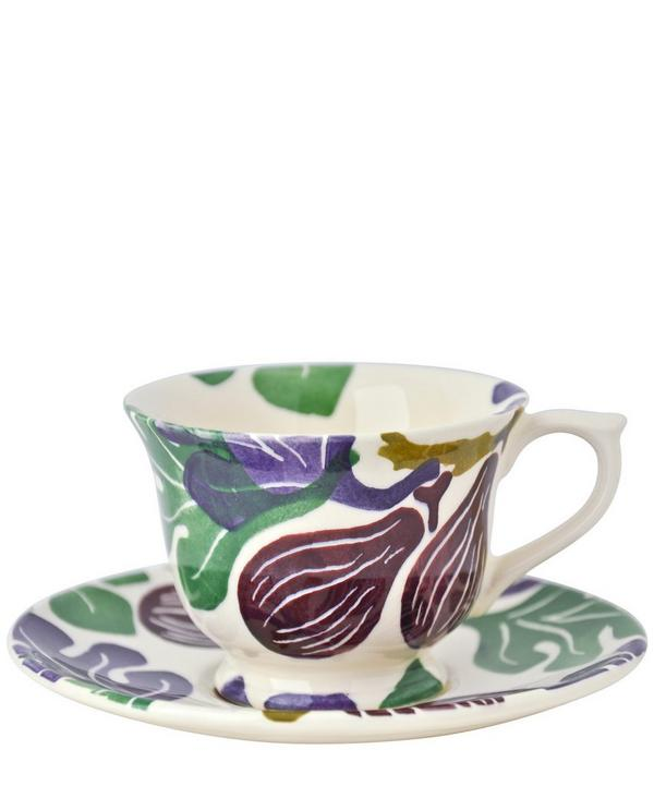 Small Figs Earthenware Tea Cup and Saucer