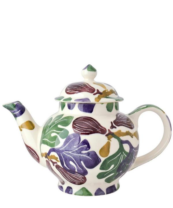 Figs Earthenware 4 Cup Teapot
