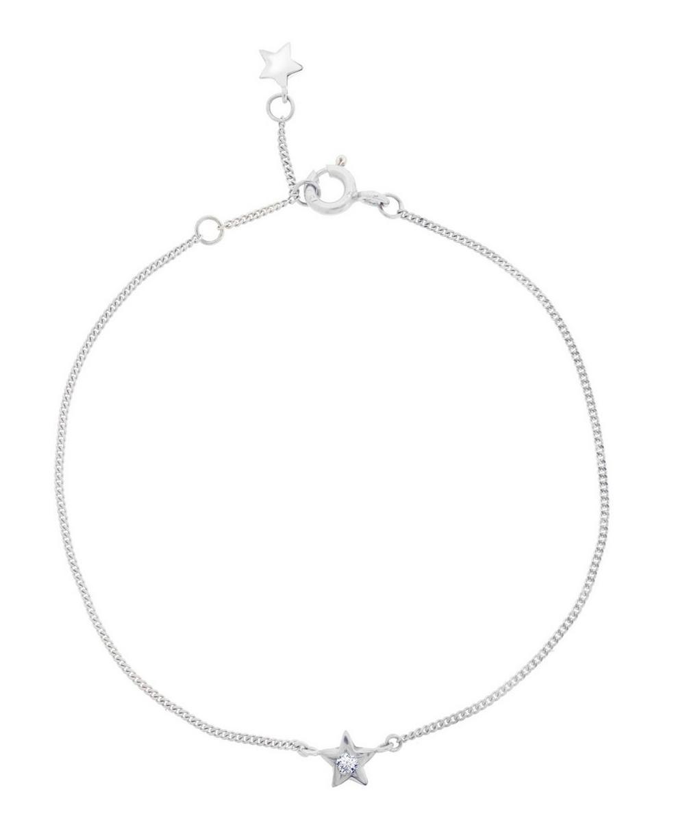 White Gold Diamond Star Bracelet