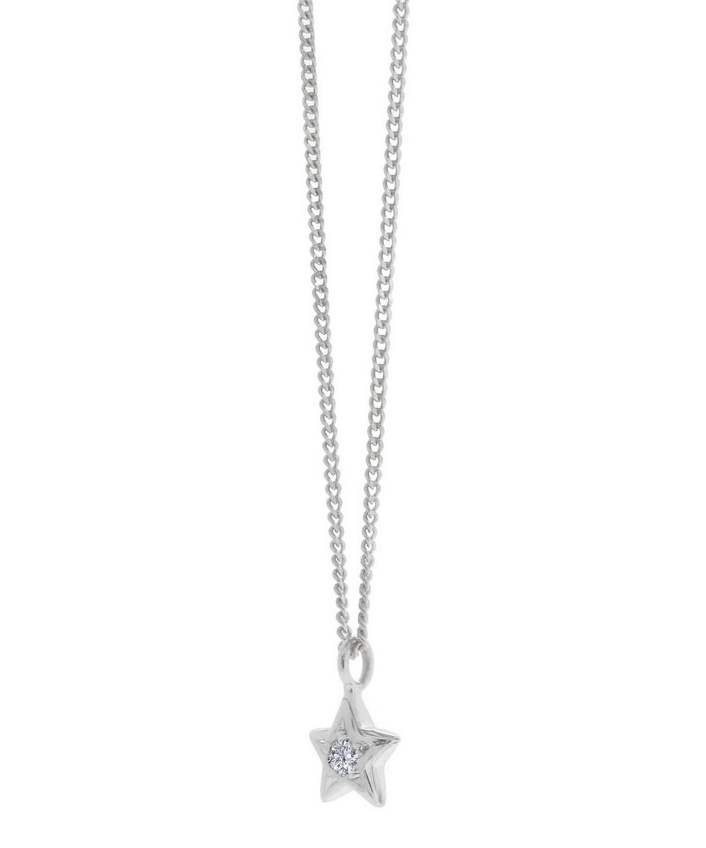 Diamond Bijou Star Pendant Necklace