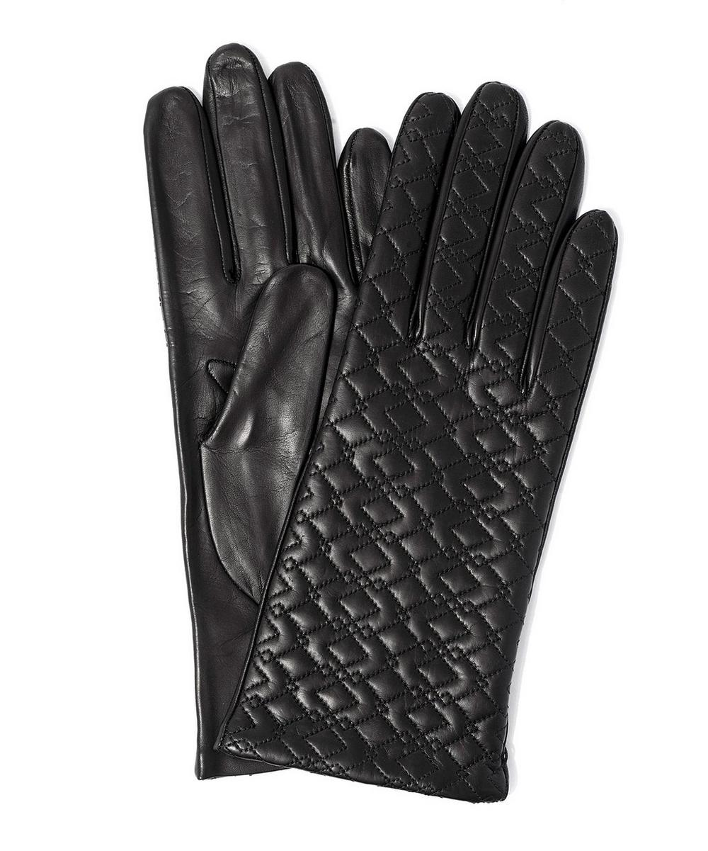 Topstitched Nappa Leather Glove