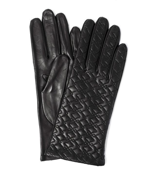 Topstitched Nappa Leather Glove