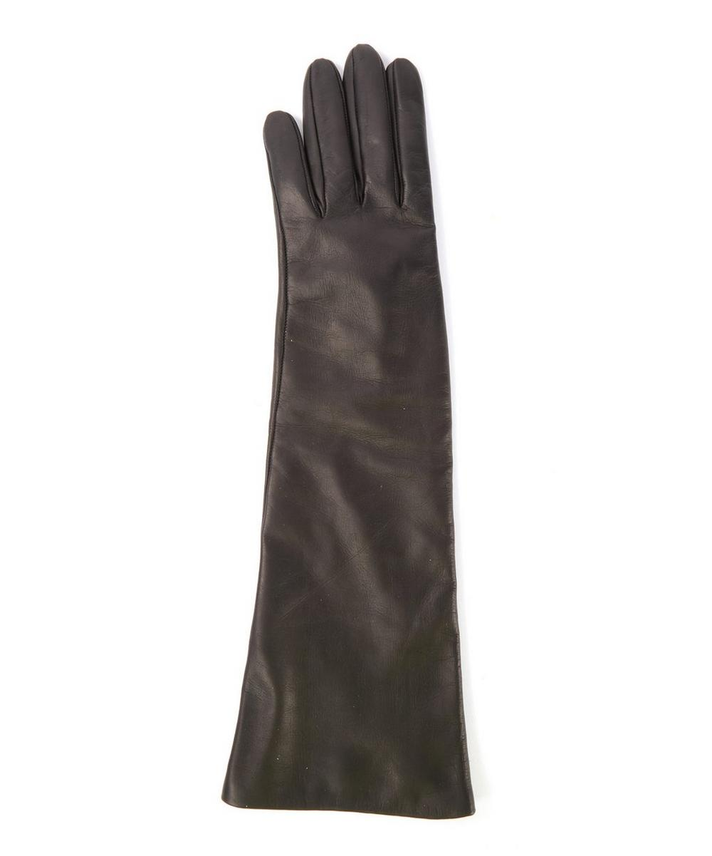 Eight-Button Long Nappa Leather Gloves