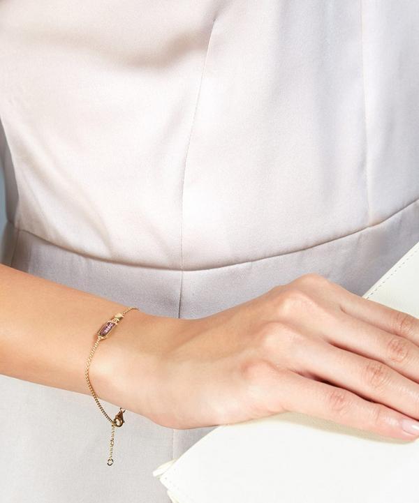 Gold-Plated Amethyst Prismic Bracelet
