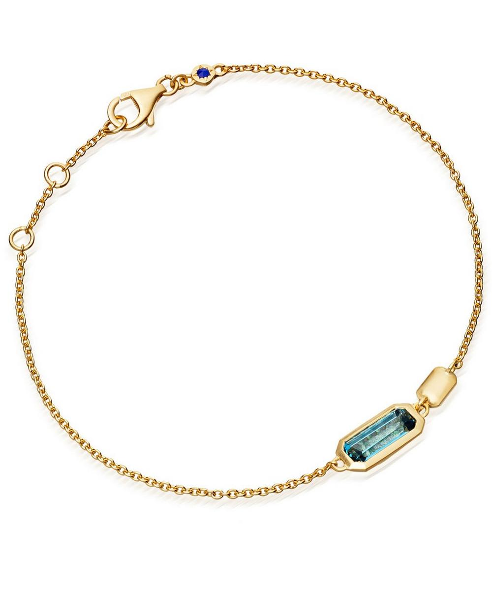 Gold-Plated London Blue Topaz Prismic Bracelet