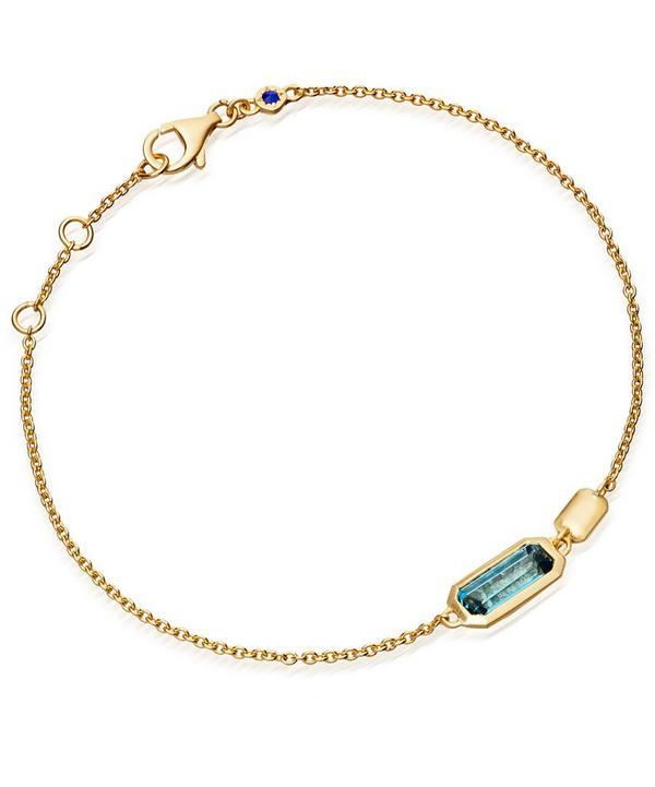 Gold-Plated London Blue Topaz Prismic Bracelet