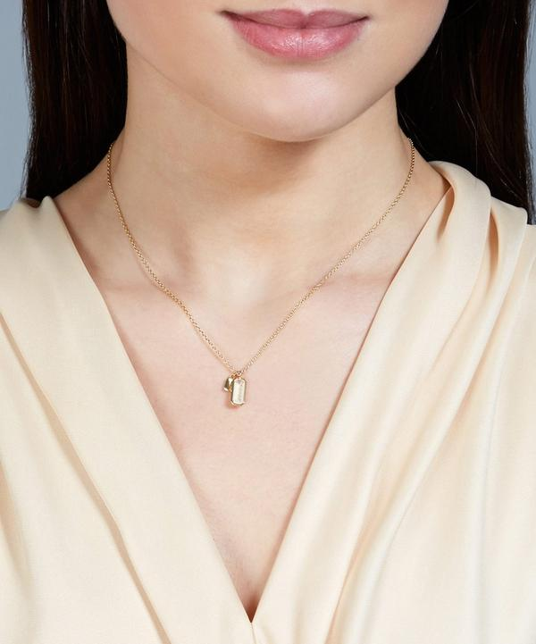 Gold-Plated Moonstone Prismic Pendant Necklace