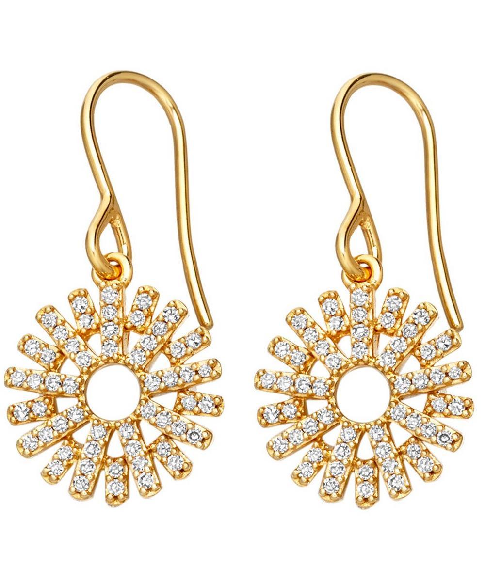 Rising Sun Diamond Earrings
