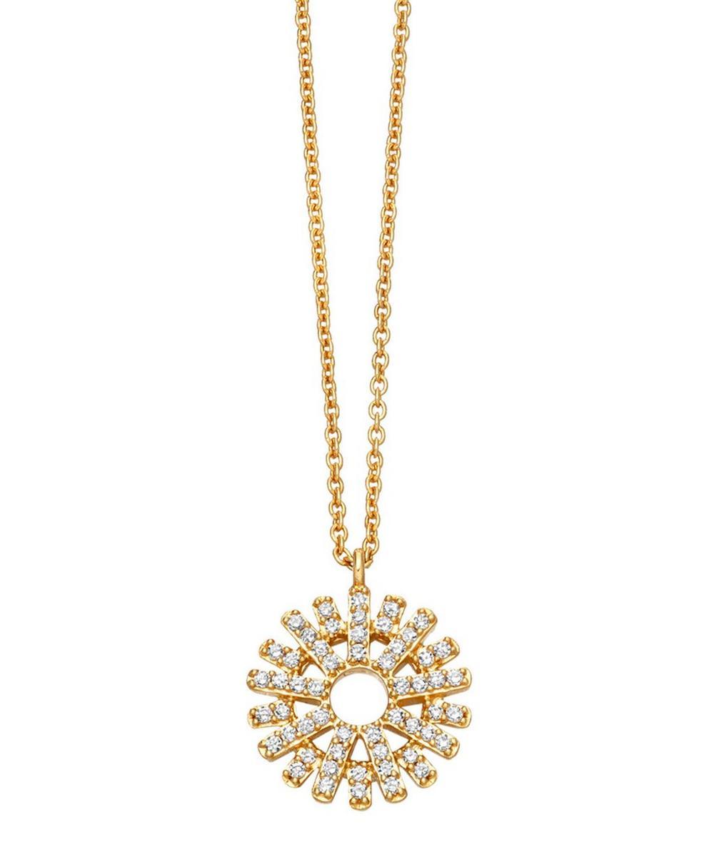 Rising Sun Diamond Pendant Necklace