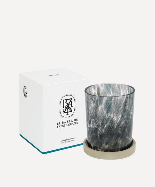 Black La Bazare du Trente-Quatre Candle Holder
