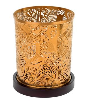 Bronze Photophore Oiseaux Candle Holder