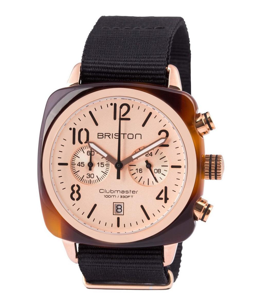 Acetate Clubmaster Chrono Rose Gold-Plated Watch