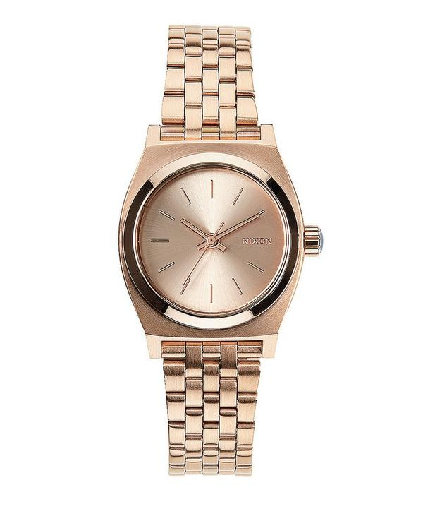 Small Rose Gold-Tone Time Teller Stainless Steel Watch