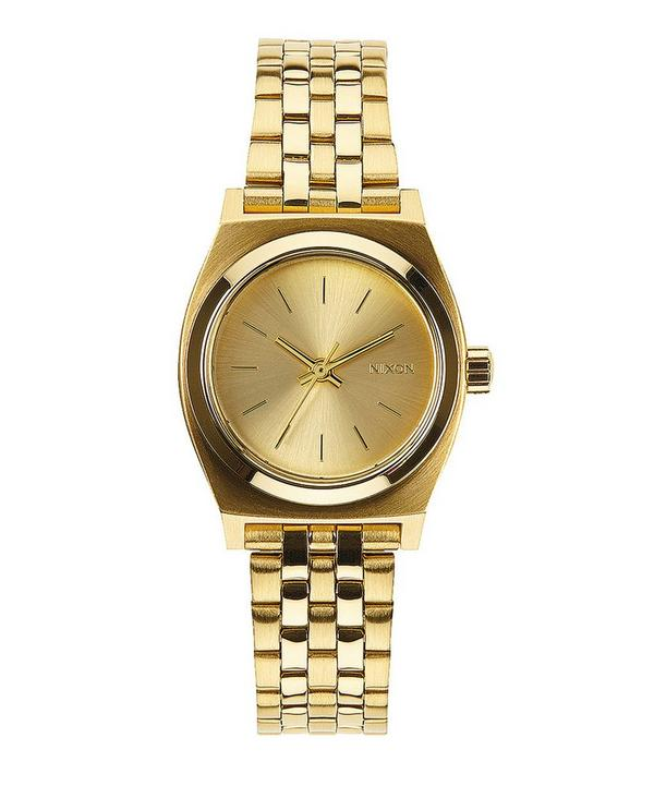 Small Gold-Tone Time Teller Stainless Steel Watch