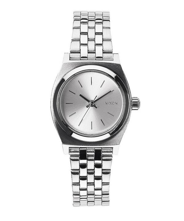 Small Silver-Tone Time Teller Stainless Steel Watch