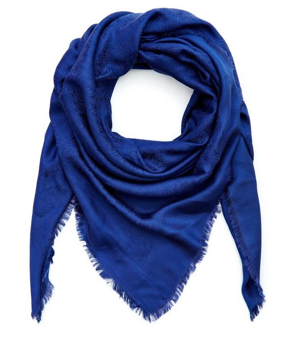 Iphis Jacquard Silk and Wool-Blend Scarf