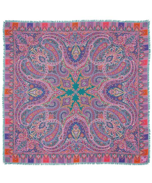 Lasenby Cashmere and and Silk-Blend Paisley Scarf