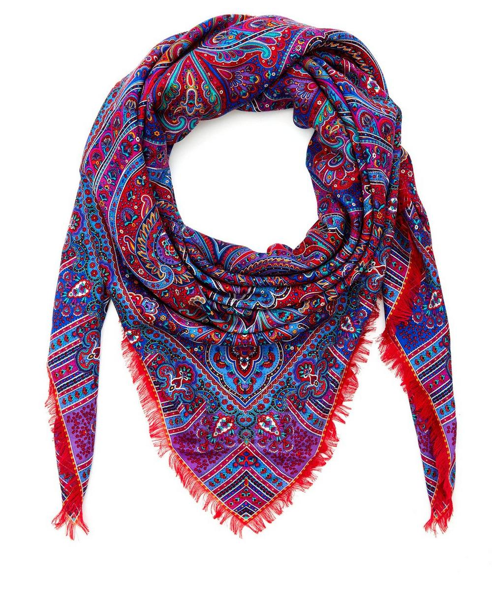 Liberty London Lasenby Cashmere and Silk-Blend Paisley Scarf