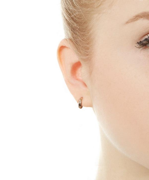 Mini Bijou Crescent Hoop Earrings
