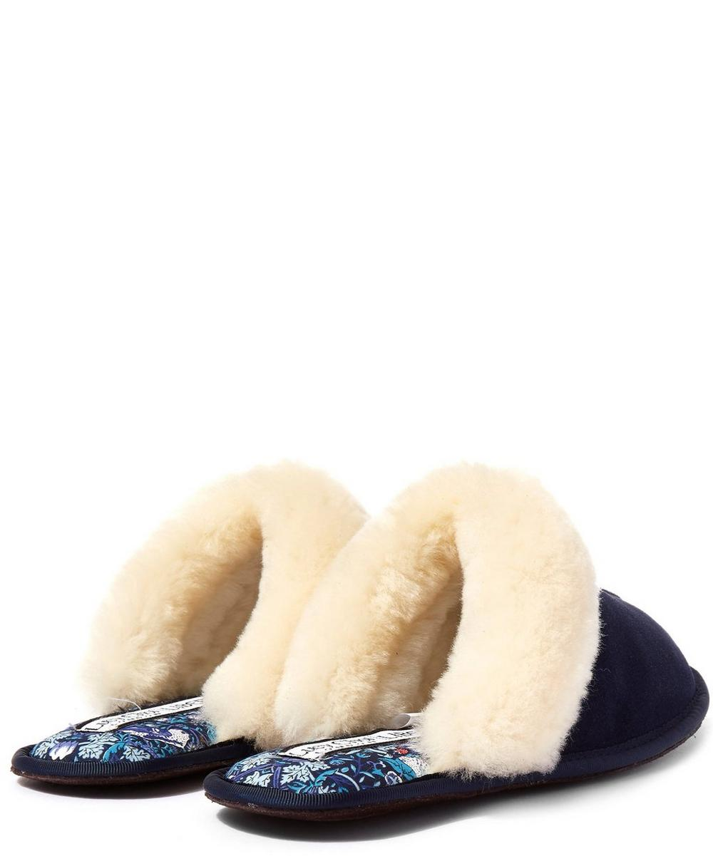 Strawberry Thief Sheepskin Slippers