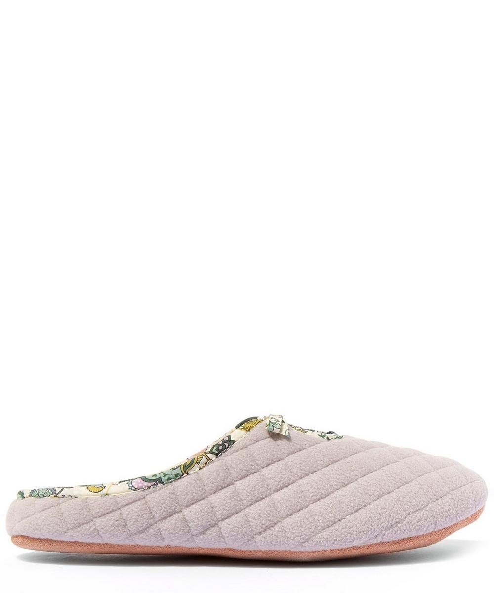 Mabelle Quilted Fleece Slippers