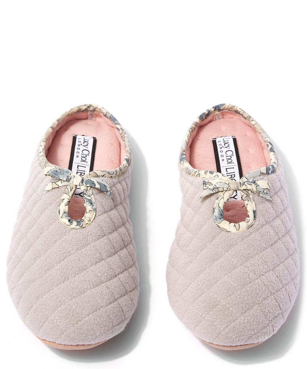 Poppy and Honesty Quilted Fleece Slippers