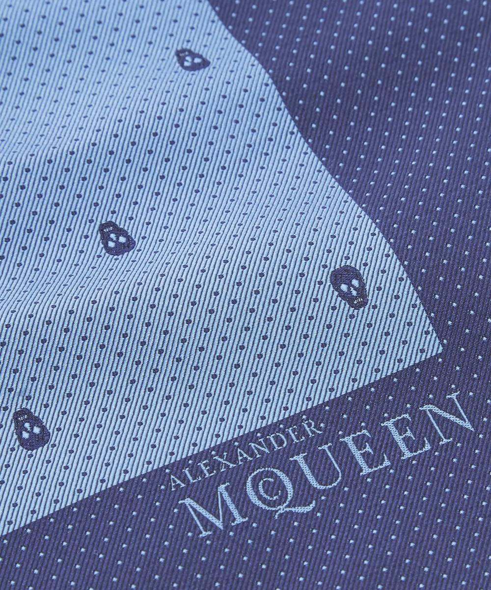 Skull Dot Pocket Square