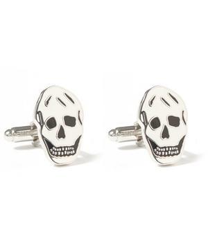 Flat Skull Enamel Cufflinks