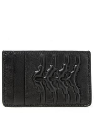 Leather Rib Cage Credit Card Holder