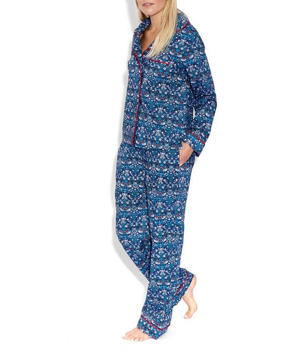 Strawberry Thief Cotton Long Pyjama Set