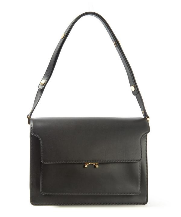 Trunk Box Leather Shoulder Bag