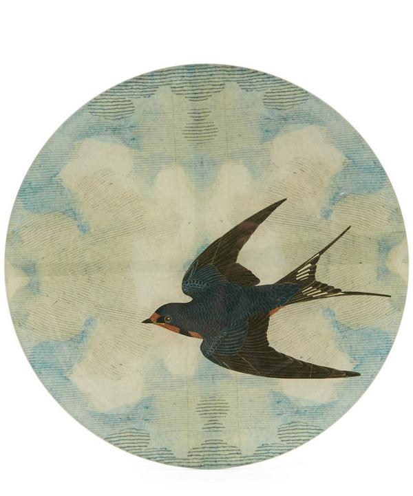 Swallow In Flight Round Plate
