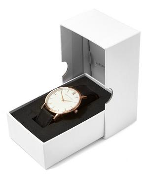 Lugano 40mm Rose Gold-White Leather Exclusive Watch