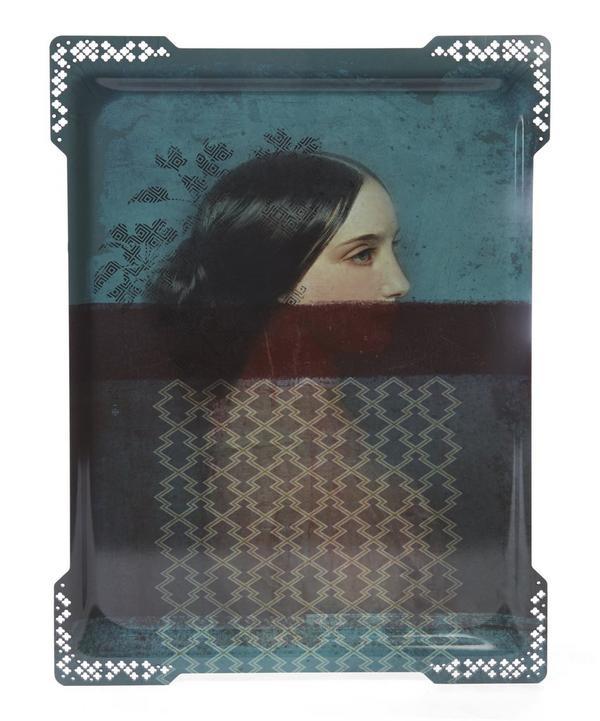 Galerie de Portraits Large Ida Rectangular Tray