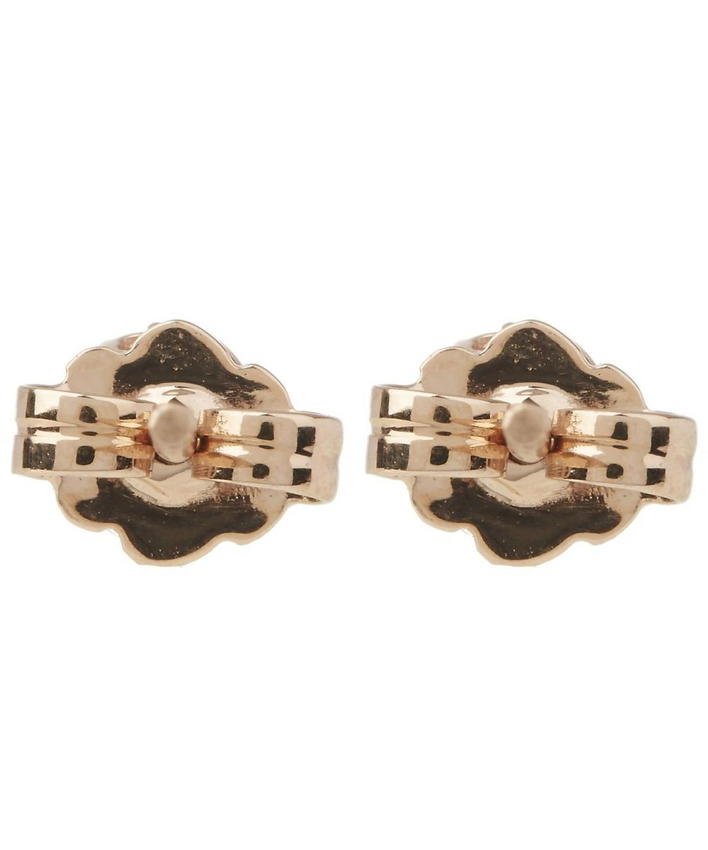 Rose Gold Petite Solitaire Earrings