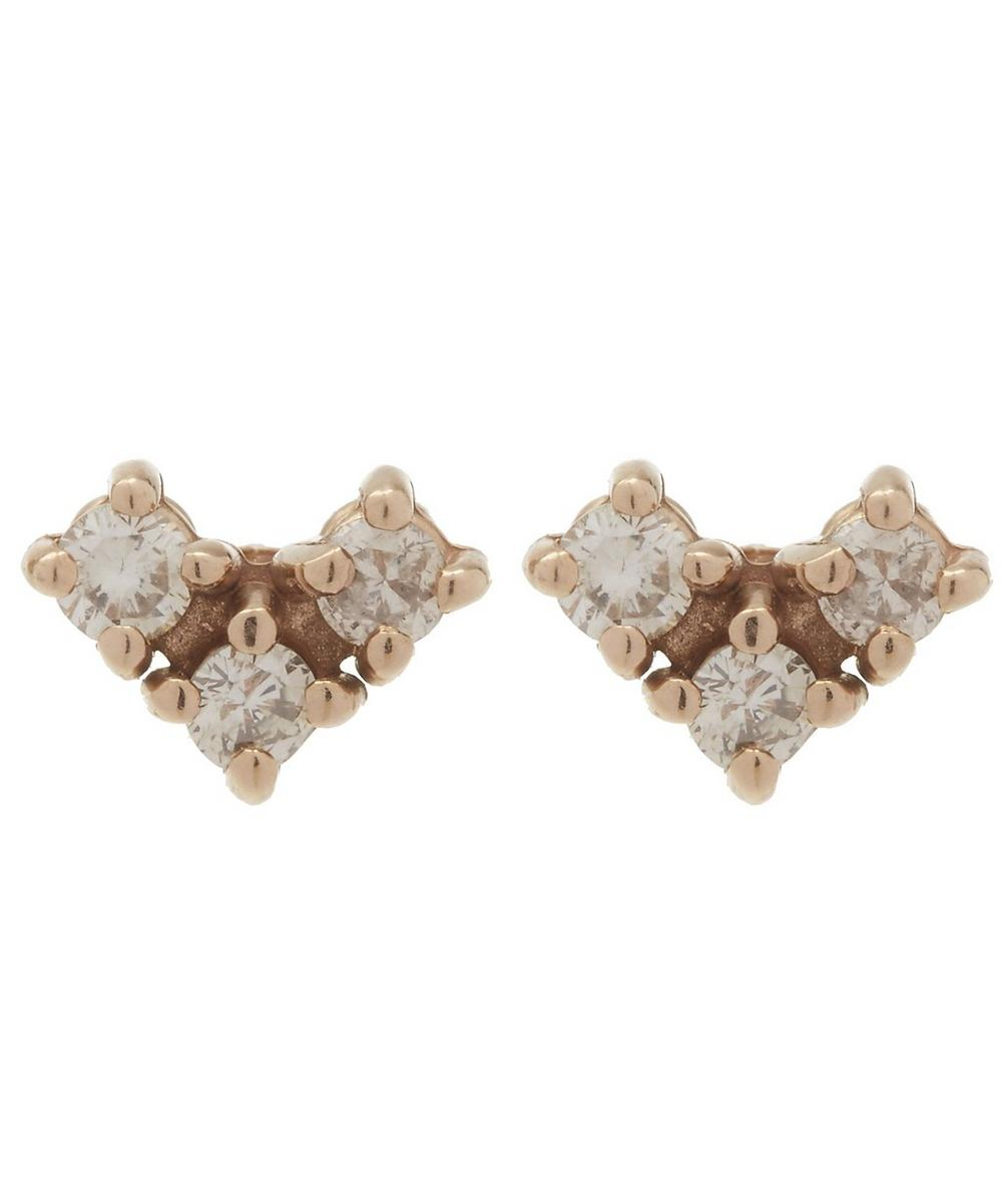 Rose Gold Bea Arrow Stud Earrings