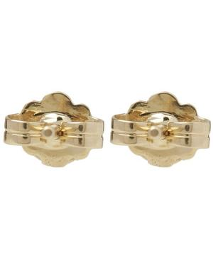 Gold Petite Solitaire Earrings