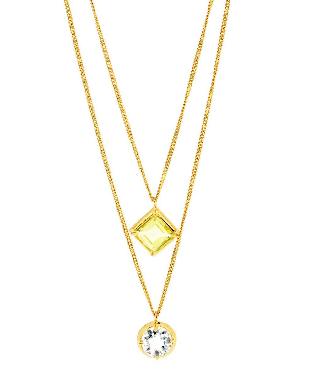 Gold Vermeil Sheba Double Pendant Necklace