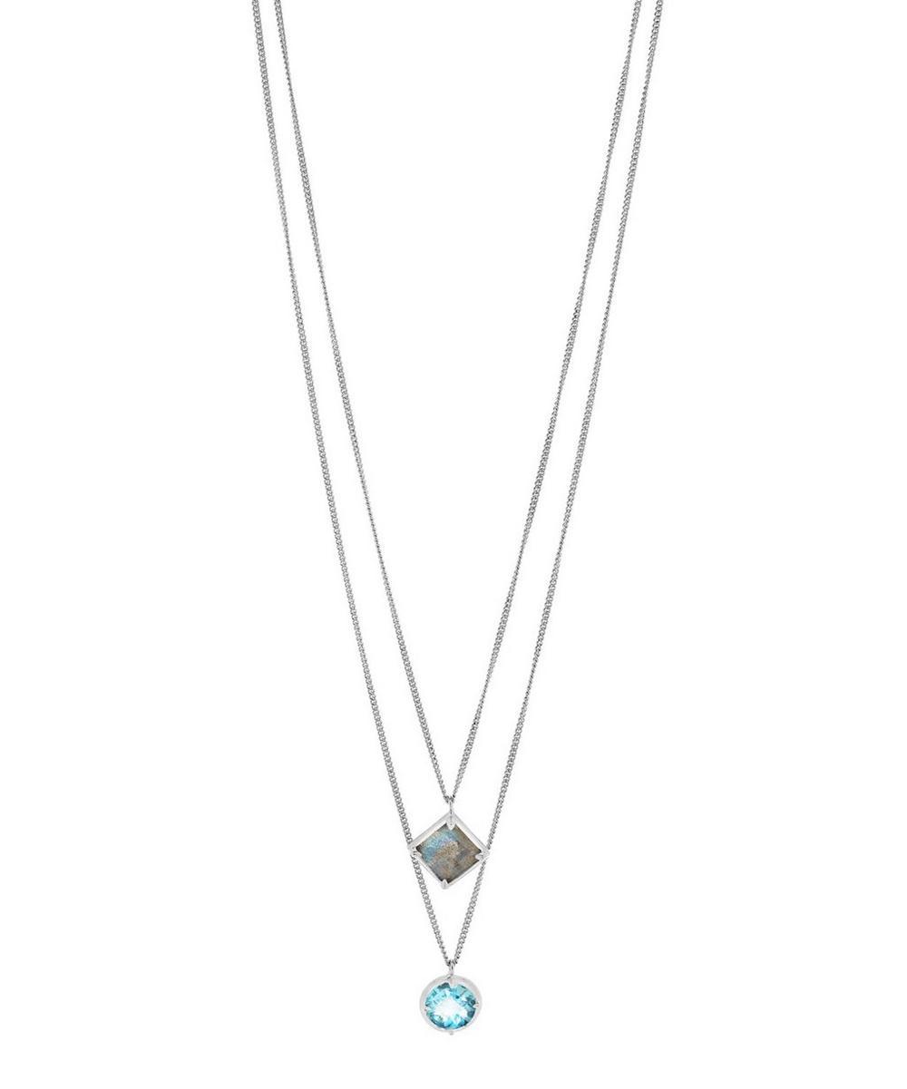 Silver Sheba Double Pendant Necklace