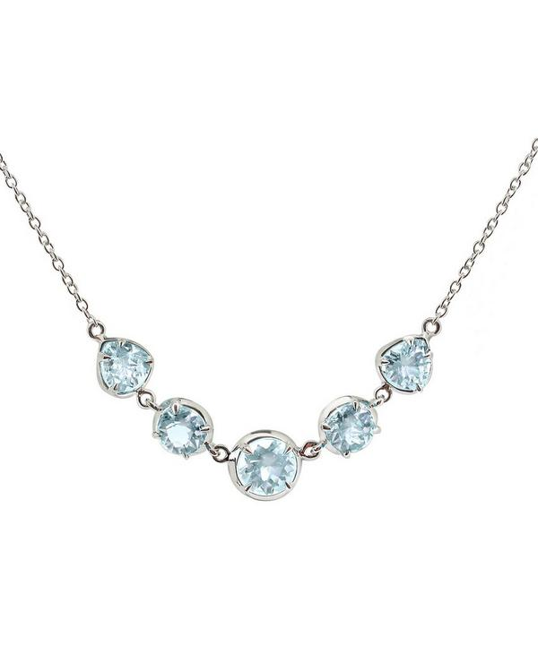 Silver Sheba Five Stone Topaz Necklace