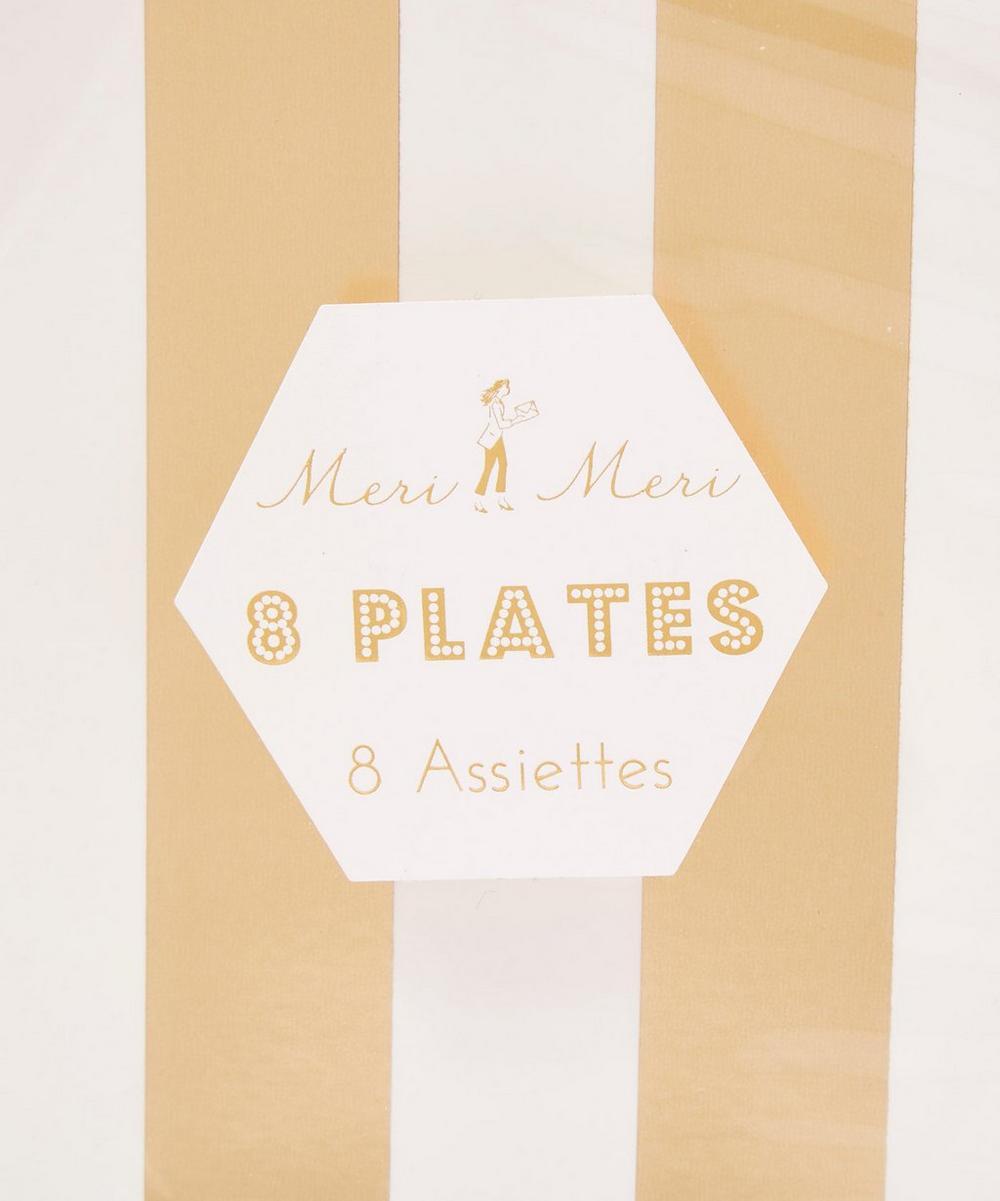 Gold Stripe Paper Plates