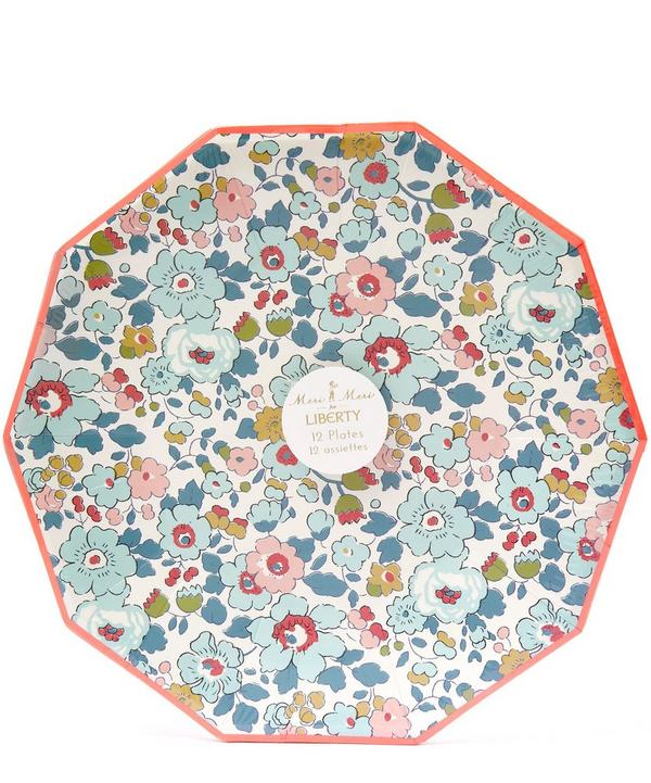 Large Betsy Liberty Print Paper Plates