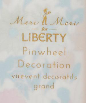 Giant Poppy and Daisy Liberty Print Pinwheel