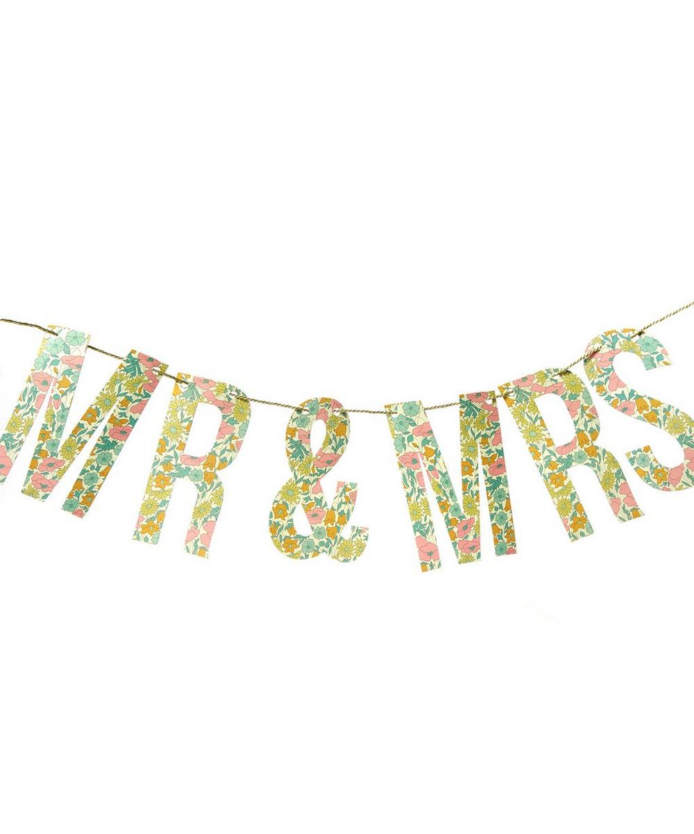 Poppy and Daisy Liberty Print Mr and Mrs Garland Garland