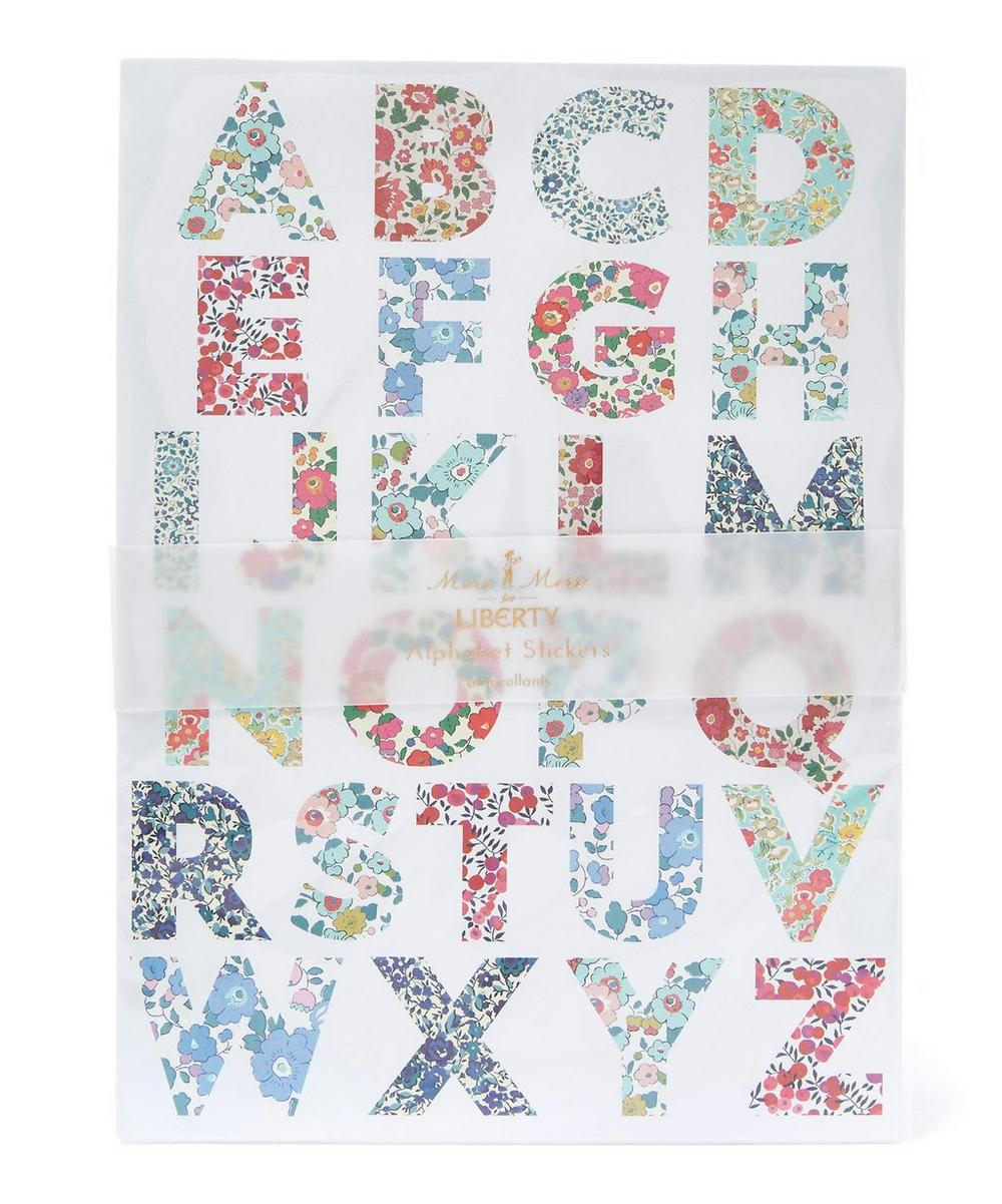 Large Liberty Print Alphabet Stickers
